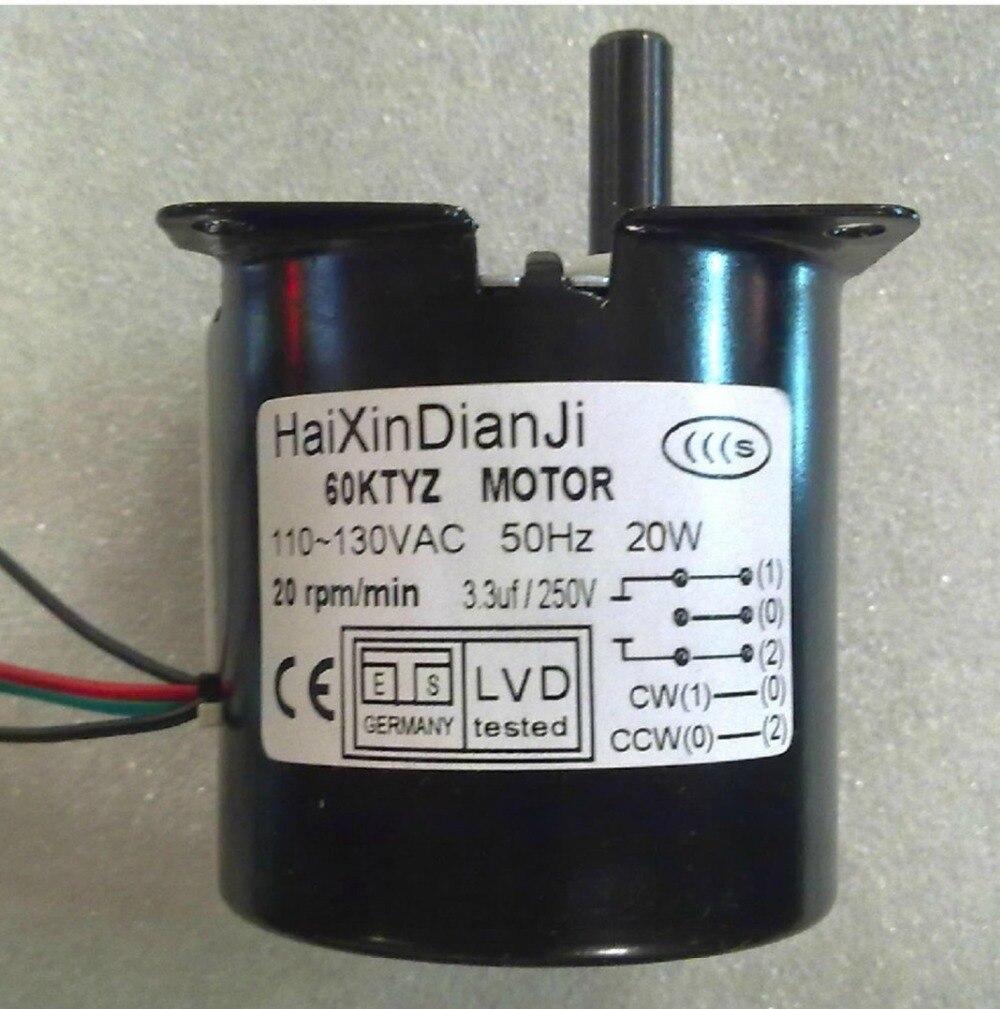 Micro AC 110 V getriebe motor mit getriebe, 60 KTYZ AC 110 V 20 Watt 99 rpm  Reversible