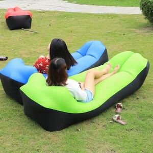 Image 3 - קמפינג שק שינה עמיד למים מתנפח תיק עצלן ספה קמפינג שקי שינה אוויר מיטה למבוגרים חוף טרקלין כיסא מהיר מתקפל