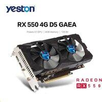 Yeston RX550 4G GDDR5 128bit игровой настольный компьютер PC Видео Графика карты с Двойной молчать Контроль температуры поклонников