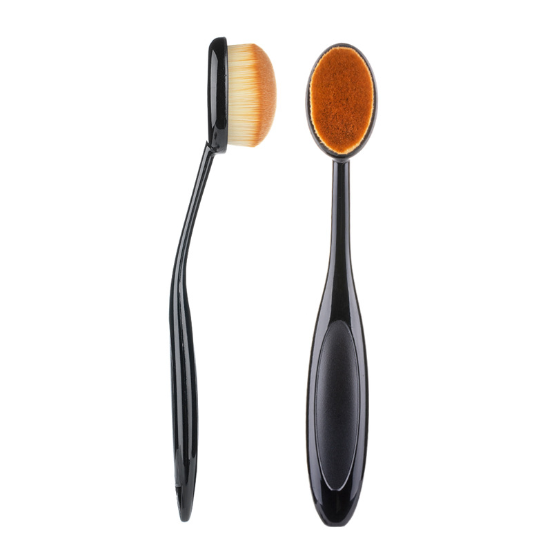 RANCAI Pro Makeup Foundation Powder Brush Conceler Make up Blush Toothbrush Oval Shape Brochas Maquillaje Cosmetic Beauty Tool image