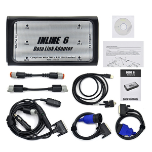 Image 2 - Free Ship INLINE 6 Data Link Adapter Heavy Duty Diagnostic Tool Scanner Full 8 cable Truck interface inline6 inline 5 2018