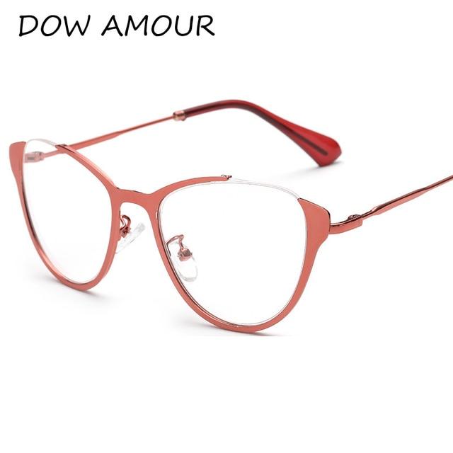 541207d907 2017 Vintage Fashion Glasses Frame Women Sexy Cat Eye Retro Eyeglasses  Clear Lens Eyewear Alloy Glasse Frame oculos de grau