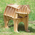 """J&E High-end 42"""" bear Antique Wood coffee table self-build puzzle furniture"""