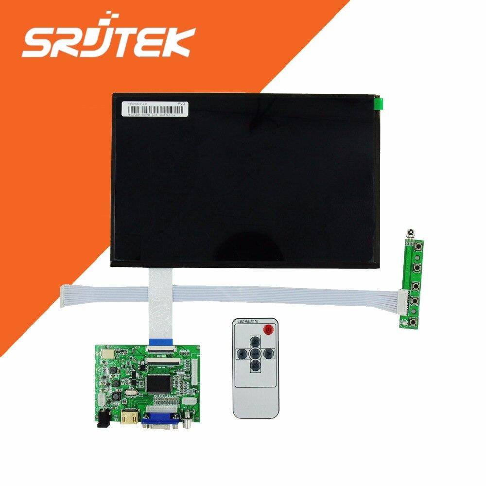 imágenes para 10.1 Pulgadas 40 pines 1280 (RGB) * 800 TFT EJ101IA-01G Pantalla LCD Con El Tablero de Conductor De Control Remoto HDMI VGA 2AV para Raspberry Pi
