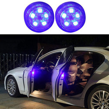 цена на 2 Pcs 5LED Light Auto LED Door Anti-collision Warning Light Kit Wireless Anti Rear Collision Lamp Flash Car Accessories 2019 New
