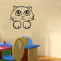 Cute Kitty Katze dekoration wandkunst aufkleber kindergarten wandtattoo kinderzimmer dekoration tapete zitat