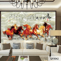 QINGCHUN Custom 3D Print Fabric Textile Wallcoverings Wall Murals Matt Silk For Living Room Office Washable