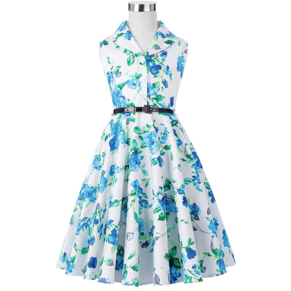 Grace Karin Flower Girl Dresses for Weddings 2017 Sleeveless Polka Dots Printed Vintage Pin Up Style Children's Clothing 31
