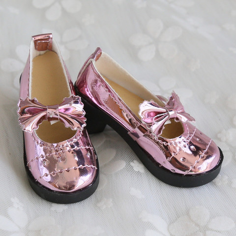 Doll Accessories Mini Cute Shoes 1/3 BJD Lolita Chunky Heel Bowknot Shoes 8cm PU Leather for 1/3 BJD 60CM SD Doll Shoes for Girl Islamabad