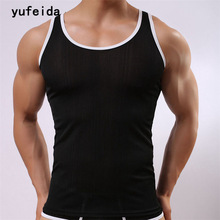 Men's Tank Tops Fashion Men Gyms Sleeveless Undershirts For Male Bodybuilding Tank Tops Sportswear Solid Casual Summer Vest