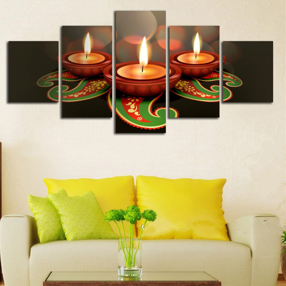 Frame Painting Living Room Decoration Modular Pictures 5 Piece ...