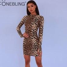 a6478afe OneBling Fashion Sexy Long Sleeve Animal Skin Print Women Bodycon Leopard Mini  Dress Mock Neck Spring Autumn Sheath Dresses. US $8.23 / piece Free Shipping