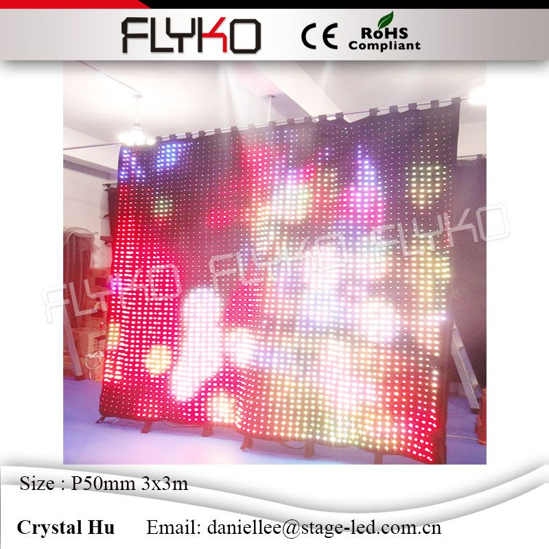 Customized dimension 3*3m P50mm led charging light stage elegant backdrop led display