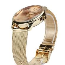 women watches Womens Fashion Classic Gold  Quartz Stainless Steel Wrist Watch relogio feminino #200717
