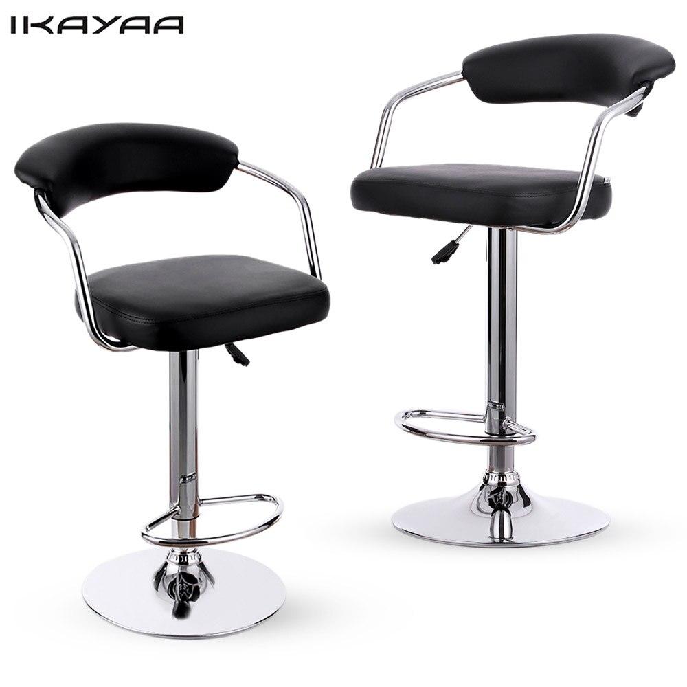 Ikayaa 2 Unids Sillas De Bar Neum Tico De Altura Ajustable  # Muebles Con Neum?ticos