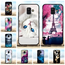 For Samsung Galaxy A6 2018 Case Soft TPU Silicone Cover Paris Pattern Bag