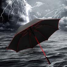 Long handle Golf umbrella glass fiber rib Straight Warn Increase Windproof Custom gift Mens business