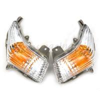 Motocicleta Sinais de Volta Blinker Indicador Winkers Lente Caixa de Luz Para SUZUKI GSR400 GSR600 2006 2012 06 07 08 09 10 11 12 lens -