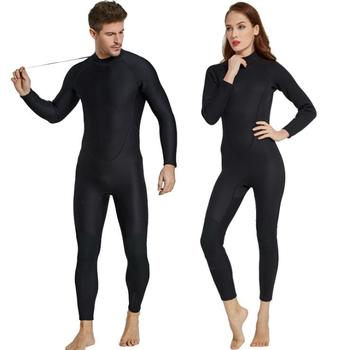 Men's Women's Wetsuit Full 2mm Neoprene Surfing Suit Diving Snorkeling Swimming Jumpsuit Matching Couples Black Wet Suit