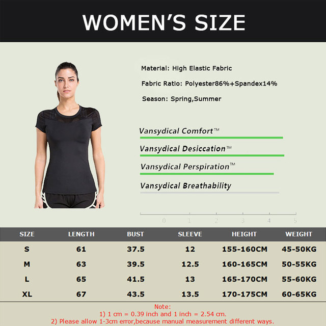 VANSYDICAL Women Yoga T shirt with Short Sleeves Breathable Fitness Quick Dry Tees