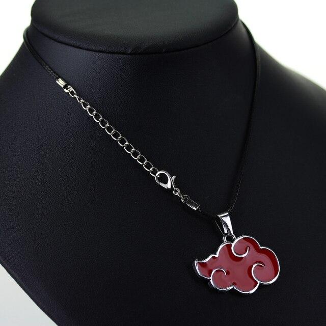 Naruto Akatsuki Red Cloud Pendant Necklace