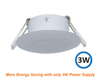 8CM 12V Caravan Light White LED RV Motorhome Caravan Interior Lamp Motor Home Accessories