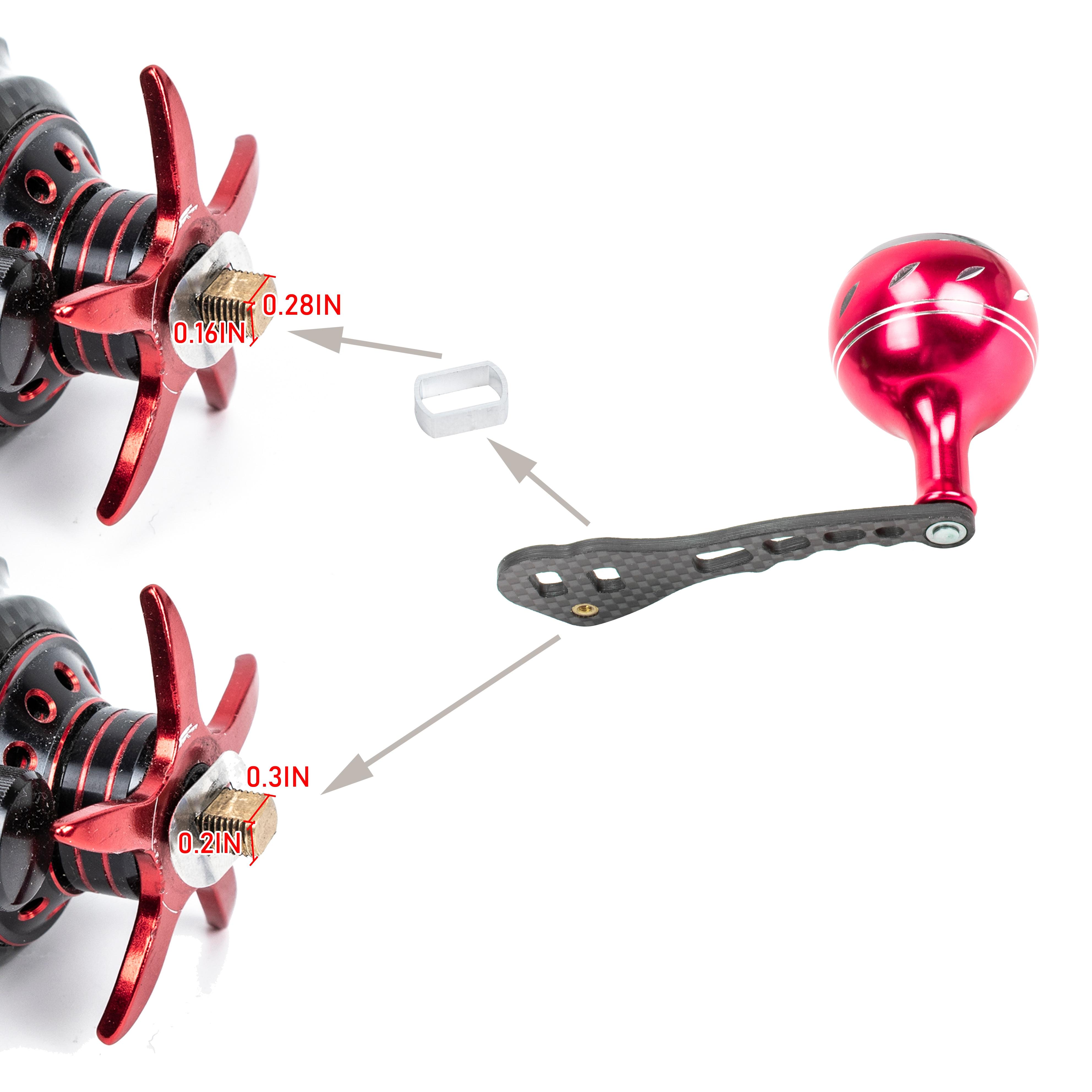 fibra de carbono acessorios para baitcasting carretel 03