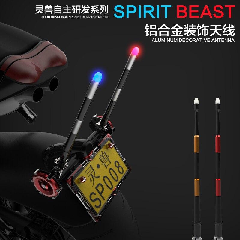 ФОТО Motorcycle antenna flagpoles decorative accessories scooters LED lights jewelry antenna aluminum alloy flagpoles motocross diy