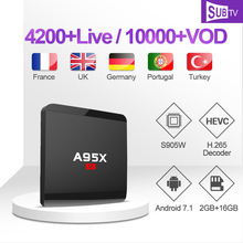 Turkish IPTV Subscription A95XR1 Box 1 Year SUBTV French Canada IP TV Code 4K Set Top Portuguese France Africa Italy