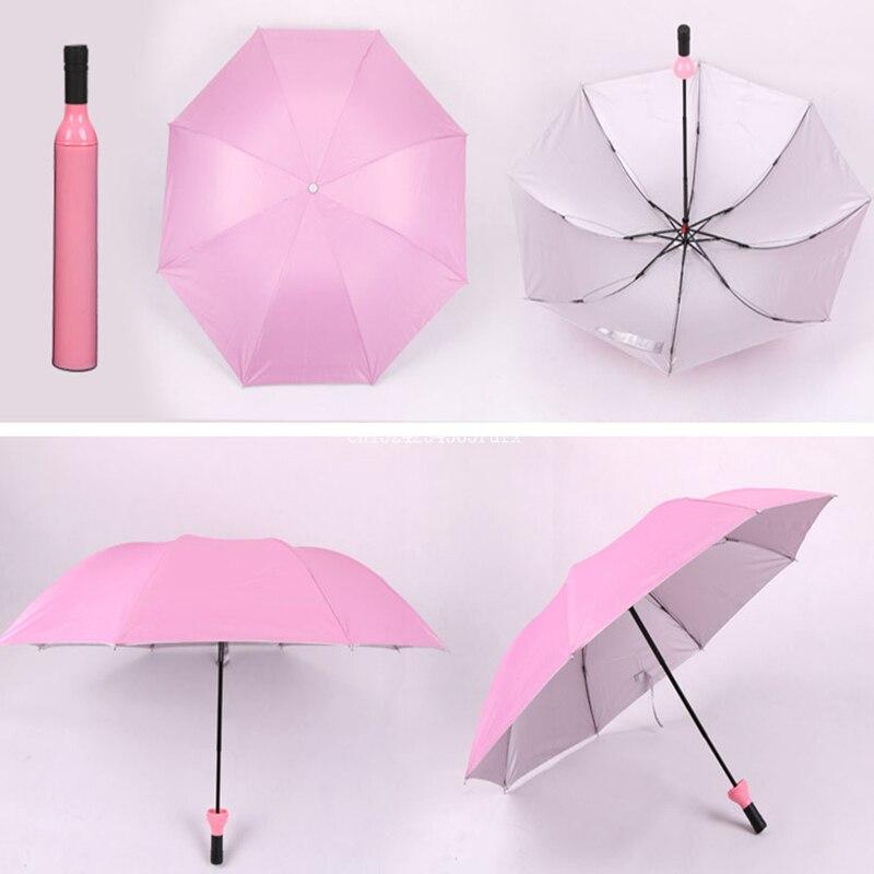 50 ピースワインボトル傘 3 折りたたみ太陽雨 UV ミニ女性男性雨具傘ギフト  グループ上の ホーム&ガーデン からの 傘 の中 3