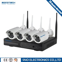 SOCOTECH 4CH 1080 P NVR Sistema CCTV Inalámbrico Juego P2P 4 unids 2.0MP WIFI Cámara IP Al Aire Libre Impermeable de Vídeo de Seguridad Kit de vigilancia