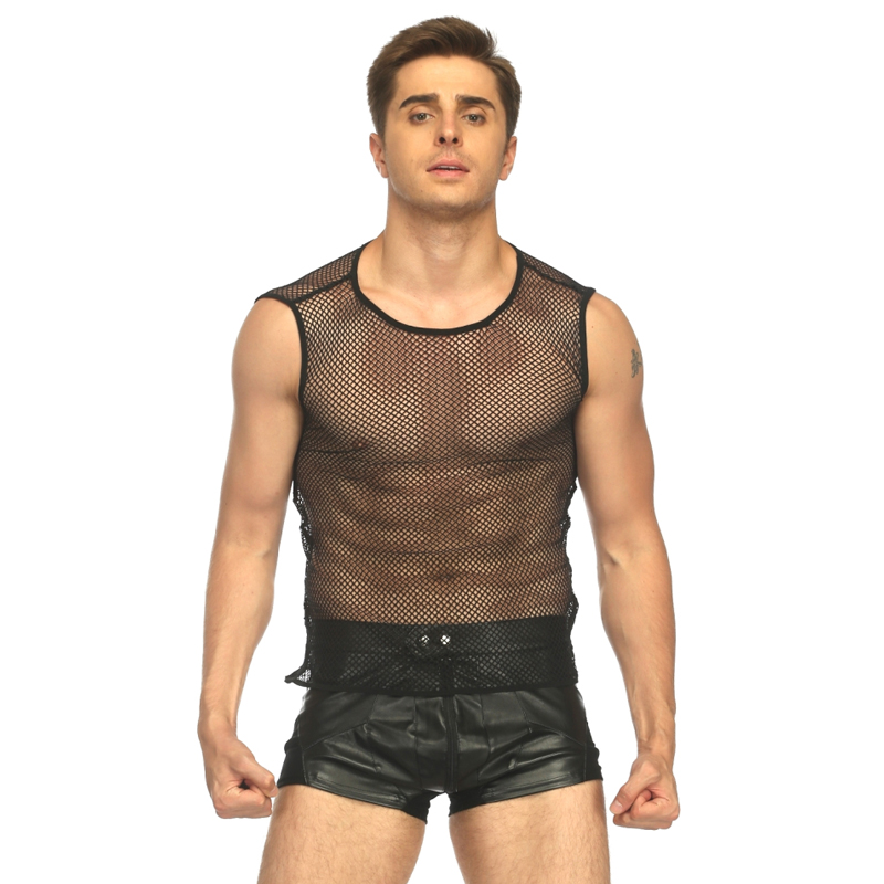 <font><b>sexy</b></font> plus size men <font><b>lingerie</b></font> top tanks male transparent net hole top shirt hollow out underwear ropa <font><b>interior</b></font> mujer <font><b>sexy</b></font> <font><b>gay</b></font> mens image