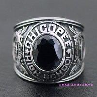 Кольцо поверхность мужской тайский серебряное кольцо
