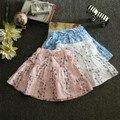 Бесплатная доставка летний новый детская одежда Цветочные юбка девушки Лолита диких гофрированные юбки Небольшой свежий мальчик rosette4-10T
