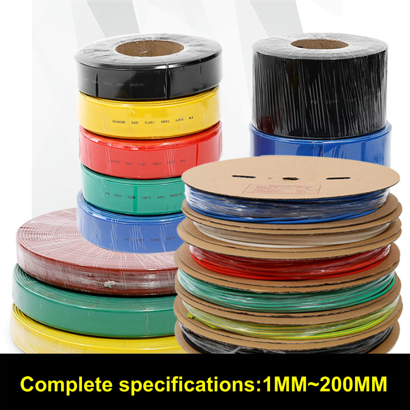 FreeShipping 200meters/set 3.5MM heat Shrink Tubing Tube Sleeving Wrap Wire Cable