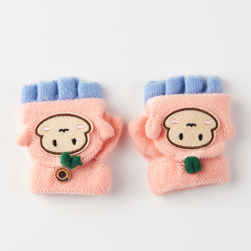 Winter Handschuhe Kinder Schöne Muster Halbe Fingerhandschuhe Halten Im Winter Warm Nette Winter Handschuhe C3105