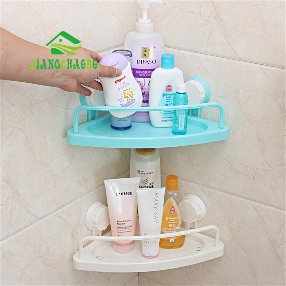 Bathroom Triangle Towel Rack Shelf Double Sucker Toothbrush ...