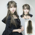 MCOSER Fashion Yurisa Long Dark Grey Straight Synthetic Hair Women's Party Cosplay Wig