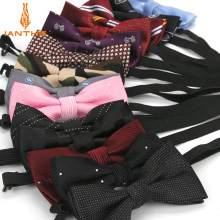 Детские новые модные формальные полиэстер малыш классические галстуки-бабочка вечерние галстук бабочка для питомца Галстуки для смокинга горошек Полосатый галстук-бабочка для мальчиков