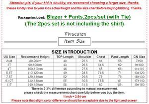 Image 5 - מותג פרח בני בגדי סט ילדים חתונה לבוש הרשמי מעיל בלייזר חולצה מכנסיים עניבת חליפת ילדי נשף טקס תלבושות F009
