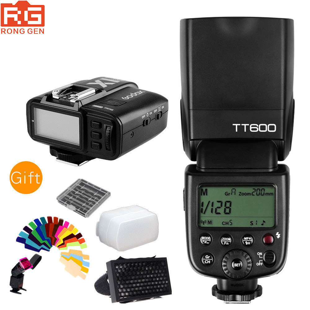 Godox Thinklite TT600 2.4g Draadloze GN60 Master/Slave Camera Flash Speedlite voor Fujifilm Camera + Met X1T F TTL zender-in Flitsen van Consumentenelektronica op  Groep 1