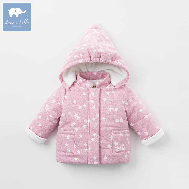 DB5605 dave bella winter infant baby girl fashion Jackets toddler girls Hooded outerwear children cute hight quality clothes free shipping children outerwear baby girl clothes baby born costume fleece topolino cute toddler girl clothes cheap baby cloth