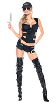 3 Pcs Police Costume Women Sexy Costume outfits Women Adult Sex Police Costumes uniform Halloween Outfit Carnival