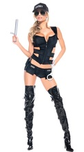 3 Pcs Police Costume Women Sexy outfits Adult Sex Costumes uniform Halloween Outfit Carnival