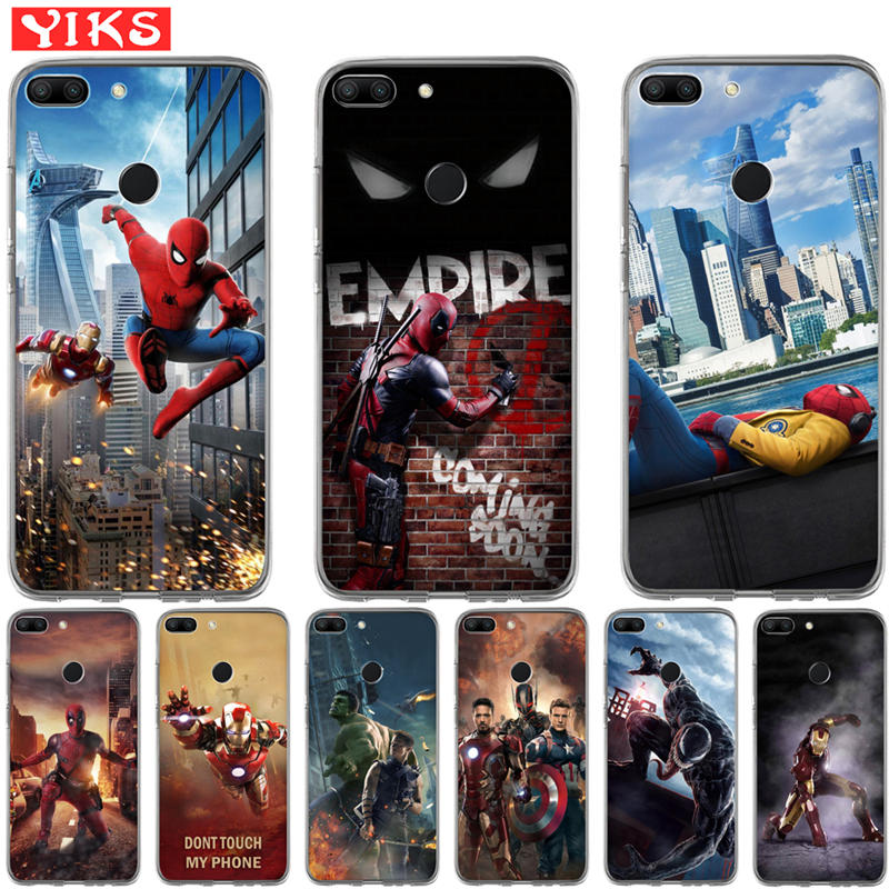 Luxury Marvel Avengers Deadpool Case For Huawei Honor 8C 10 9 8 Lite 8X 7 7A 7X 7C 6A 6X Case Cover Coque Funda Capinha Etui image
