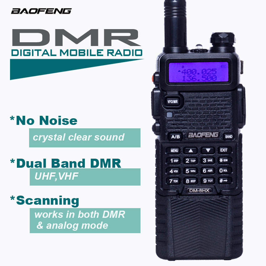 DMR Migitale Mobile Radio Baofeng DM 8HX Walkie Talkie 128 CH Radio Bidirezionale Professional Radio VHF