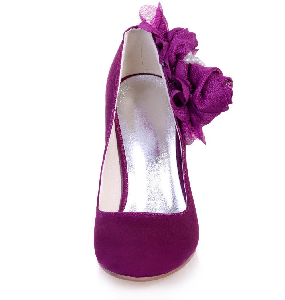Creativesugar Elegante fiore 3D perle della festa nuziale prom pompe scarpe  da sera in raso da sposa tacchi viola royal blue argento avorio in  Creativesugar ... 489c48805225