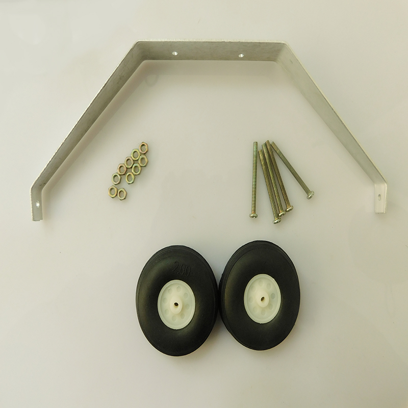 1 Set Aluminum Alloy Taildragger Tricycle Landing Gear W/Steering Tail Wheel For RC Airplane Spare Parts