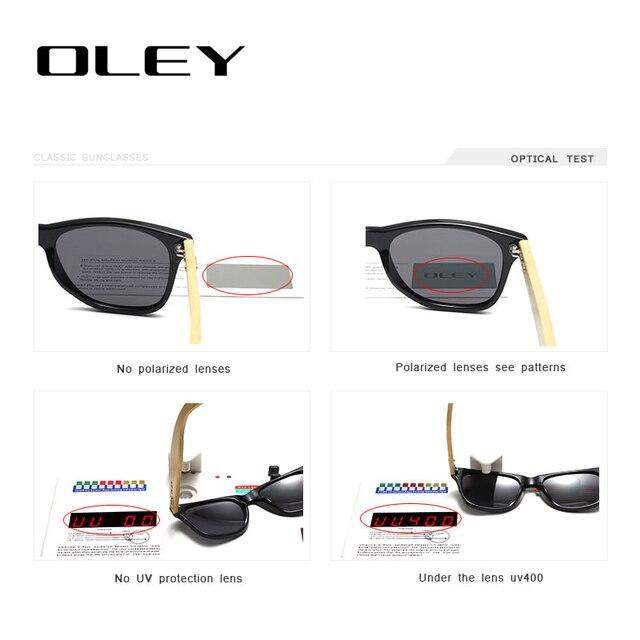 OLEY Bamboo Leg Polarized Sunglasses 6