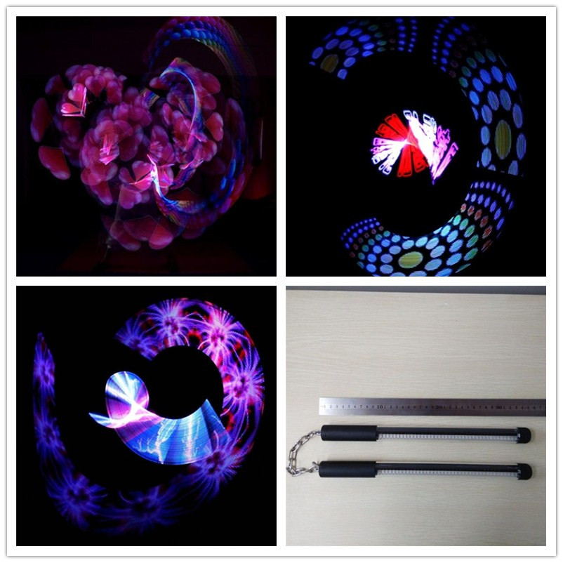 New programmable led 50 pixels poi led nunchakus with USB can change photos for stage show KTV Bar event & party supplies